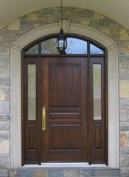 Create a grand entrance with a fibreglass door system. The surface of a fibreglass door produces an authentic wood door appearance by utilizing variable ... : fibreglass door - pezcame.com